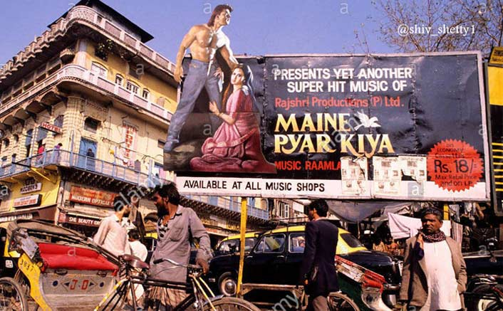 #ThrowbackThursday: When Makers Of Salman Khan's Maine Pyar Kiya Put Up A Hoarding 2 Months Before Its Release