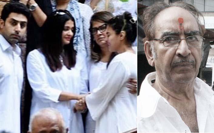 Veeru Devgan Last Rites VIDEO: Kajol Sobs Uncontrollably As Aishwarya Rai & Abhishek Bachchan Console Her