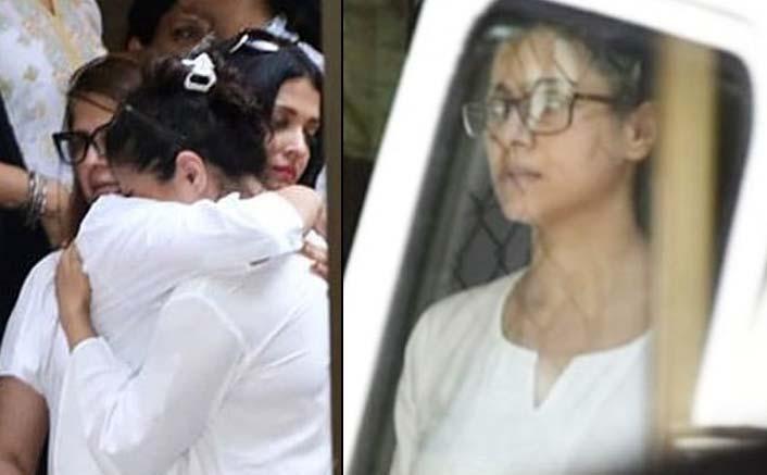Veeru Devgan Last Rites: Kajol Sobs Uncontrollably As Aishwarya Rai & Abhishek Bachchan Console Her
