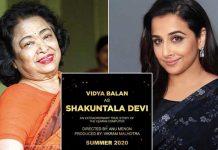 Vidya Balan to play the lead in a film on Shakuntala Devi's life!