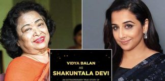 Vidya Balan to play the lead in a film on Shakuntala Devi's life!