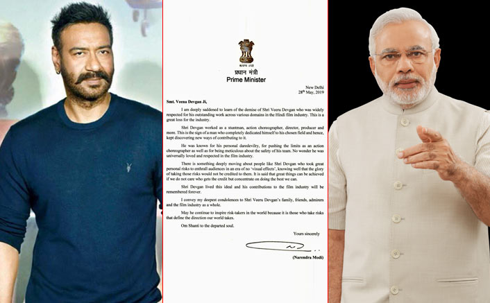 PM Narendra Modi Sends Heartfelt Condolence To Ajay Devgn & Family On Veeru Devgn's Demise