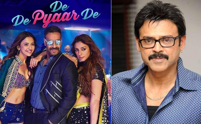 Ajay Devgn's movie 'De De Pyaar De' to get a Telugu remake starring versatile South hero- Venkatesh Daggubati