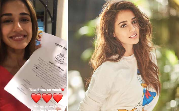 Bharat Star Disha Patani Gets An Advance Birthday Surprise From Her Fans, Here's How She Reacted!