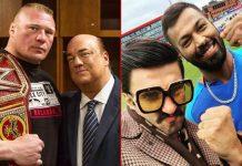 Brock Lesnar's Advocate Paul Heyman Gets Into Banter With Ranveer Singh!