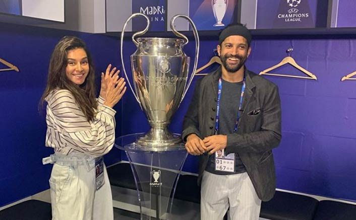 From Witnessing Award Functions To UEFA Champions League, Farhan Akhtar & Shibani Dandekar Are All The Couple Goals We Need!