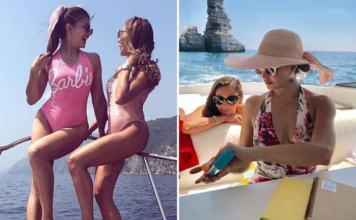 Jacqueline Fernandez flaunts Barbie swimsuit