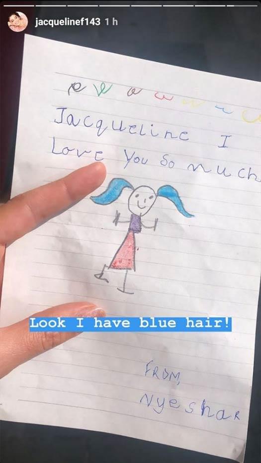 Jacqueline Fernandez Receives Message From A Fan & It Is Hard To Miss!