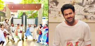 Prabhas' Japanese fans pose outside his house in Hyderabad