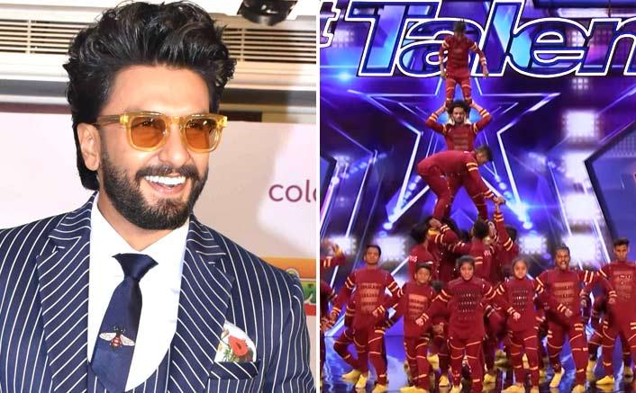 Ranveer Singh Backs Up V.Unbeatable Dance Group For America's Got Talent
