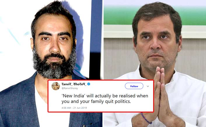 """Ranvir Shorey Points Gun At Rahul Gandhi: """"New India Will Be When You & Your Family Quit Politics"""""""