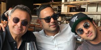 Rishi bonds with son, son-in-law over wine