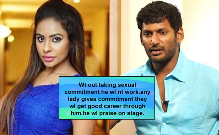 """Telugu Actress Sri Reddy Accuses Vishal: """"Without Taking Sexual Commitment, He Will Not Work"""""""