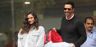 Arjun Rampal & Girlfriend Gabriella Demetriades Head Back Home With Their Baby Boy!