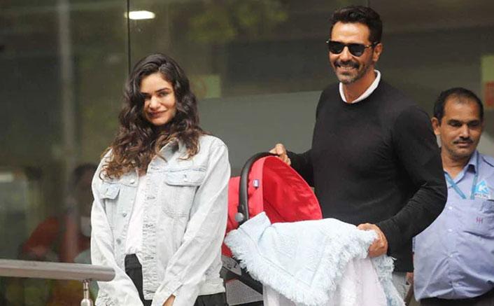 Arjun Rampal & Girlfriend Gabriella Demetriades Head Back Home With Their Baby Boy!