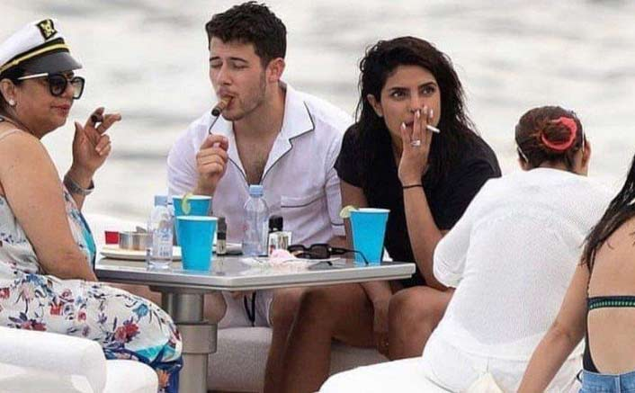 'Asthmatic' Priyanka Chopra enjoys a smoke on yacht