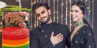 Deepika shares glimpse of Ranveer's rainbow birthday cake