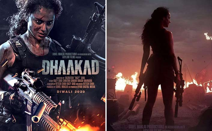 Kangana Is Rolling In Her New Poster From Dhaakad
