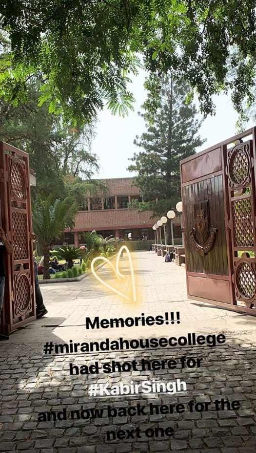 Kiara back to Delhi University for another film's shoot