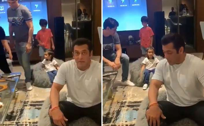 Salman Khan Shares An Adorable Yet Funny Video Of Ahil & Yohan's Recreating The Bean Bag Moment