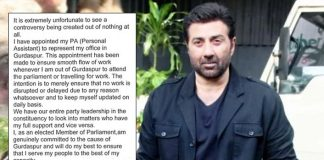 Sunny Deol Gives It Back As He Gets Trolled For Appointing Representative For Gurdaspur Constituency