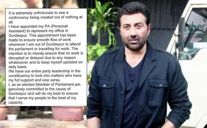 Sunny Deol Gives It Back As He Gets Slammed For Appointing A Representative For Gurdaspur Constituency