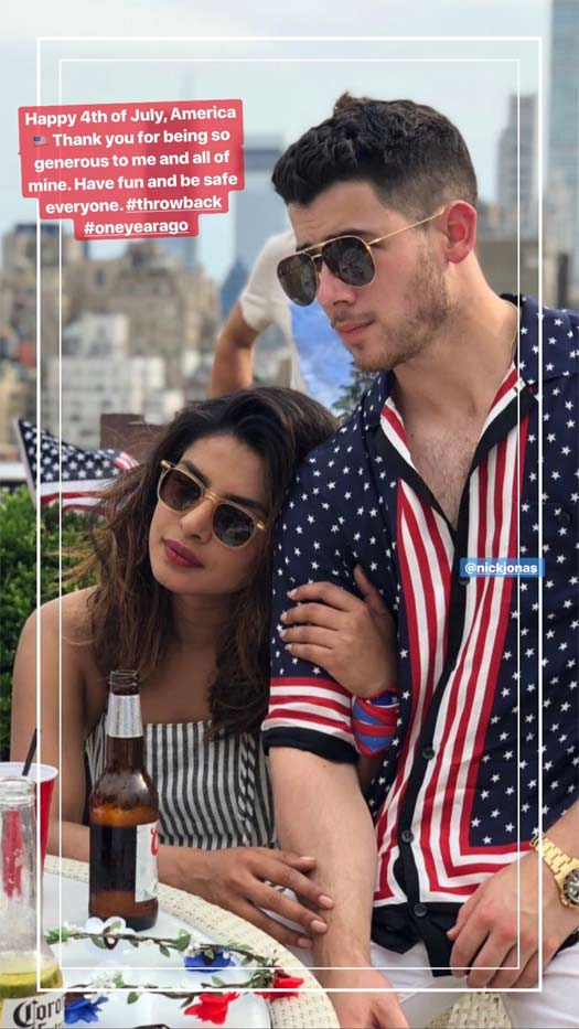 Priyanka Chopra Posts A Stunning Picture With Nick Jonas With A Message As They Celebrate 4th Of July
