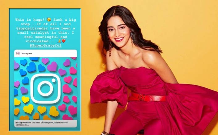The initiative by Ananya Panday, 'So Positive' creates big impact: Instagram announces anti-bullying features