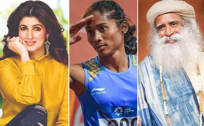 Twinkle Khanna Receives Flak On Twitter For Taking Jibe On Sadhguru's Congratulatory Tweet For Hima Das