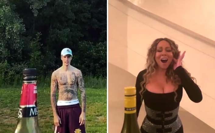 VIDEO: Justin Bieber's SWAGSTER Bottle Cap Challenge; Mariah Carrey's Twist Is Unmatchable!