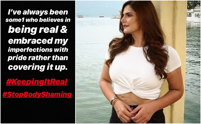 Zareen Khan's Stretch Marks On Stomach Gets Her Trolled; Hits Back Like A Boss!