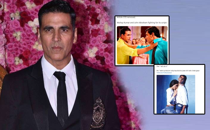 Akshay Kumar REACTS To Memes Made On Him And John Abraham Regarding Article 370 Script