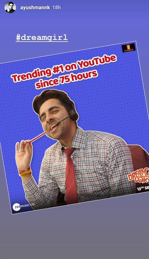 Dream Girl: Ayushmann Khurrana Scores A Hat-Trick! Trailer Is Trending #1 Since 3 Consecutive Days