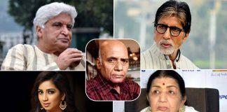 Bollywood Legends Amitabh Bachchan, Lata Mangeshkar, Javed Akhtar, Shreya Ghoshal, And Others Pay Their Tribute To Late Musical Legend Khayyam Saab