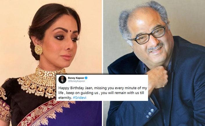 Boney Kapoor shares a heartwarming post on Sridevi's 56th birth anniversary
