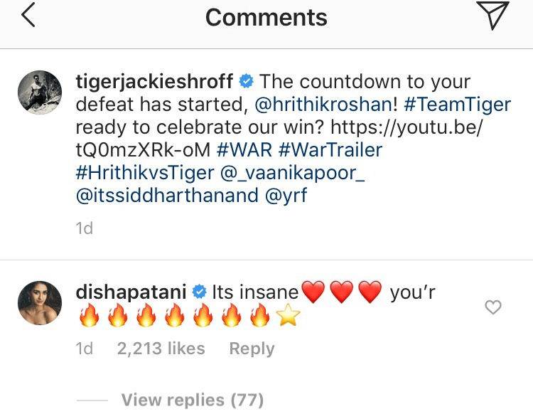 Disha Patani Reviews Tiger Shroff's War Trailer & Here's What She Thinks!