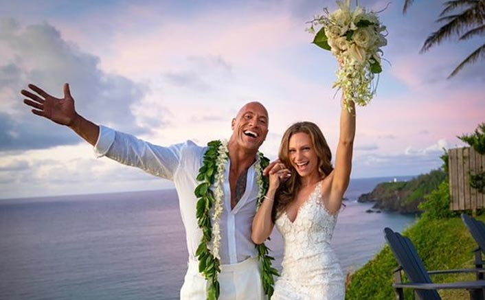 Dwayne Johnson 'feels great' after getting married