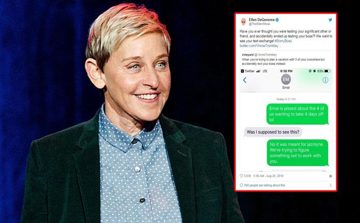 Ever accidentally texted the boss? Ellen DeGeneres asks fans