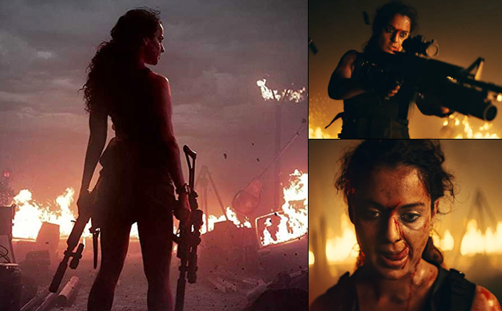 Fierce, daring and all guns blazing, first look teaser of Kangana Ranaut's Dhaakad promises a mega action Diwali Bonanza