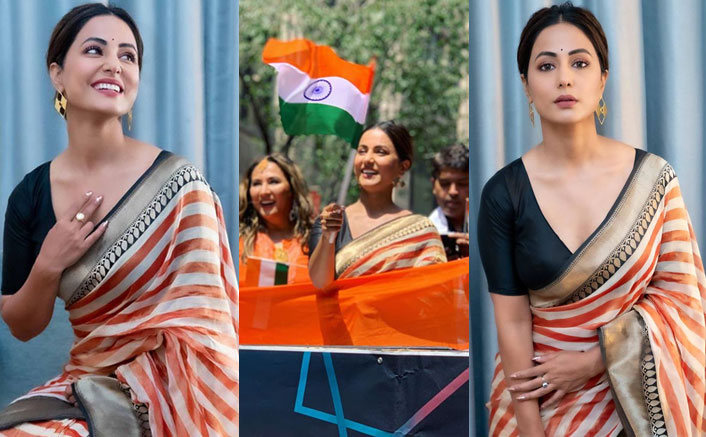 Hina Khan Hoists The National Flag During India Day Parade In New York, Pictures Will Give You Goosebumps