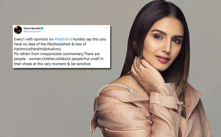 "Huma Qureshi On Article 370 Aftermath: ""You Have No Idea Of The Life, Bloodshed & Loss"""
