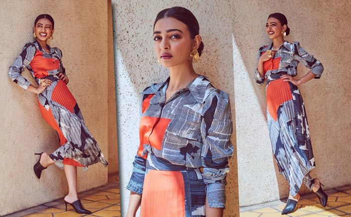 Indie star acing the fashion A-game! Radhika Apte is a vision in this modern art-inspired shirt paired with a skirt