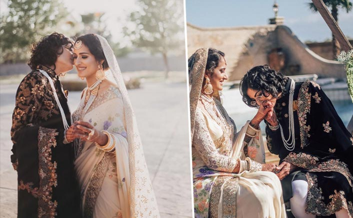 Indo-Pak lesbian couple look regal in fairy tale wedding