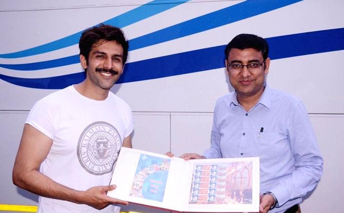 Kartik Aaryan Gets Honoured With Customised Postal Stamps In Lucknow, See Picture