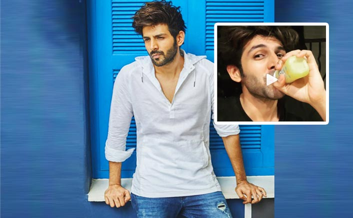 "Kartik Aaryan Gets Sarcastic As He Posts An ""M For Mature"" Video Of Him Drinking Mango Shake In Baby Bottle"