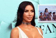 Kim Kardashian shares first-ever photo with all four kids