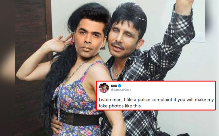 KRK & Karan Johar's Morphed Picture Goes Viral On Twitter, Kamaal Threatens To File A Police Complaint
