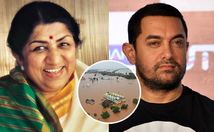 Lata Mangeshkar, Aamir donate for Maha flood relief