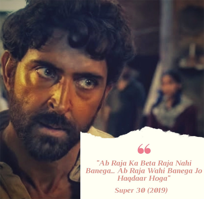 Continuing the legacy of #MondayMotivation, we are here with yet another motivational dialogue ft. Hrithik Roshan from his latest film Super 30.