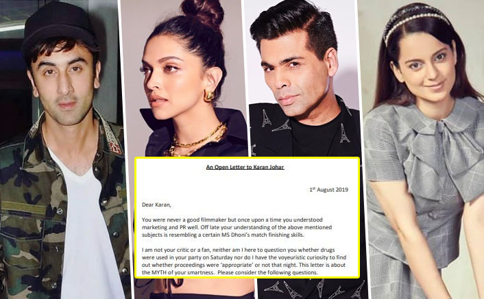 Open Letter To Deepika Padukone, Ranbir Kapoor, Karan Johar & Alleged 'Drugged State' Celebs STORMS Online Thru Kangana Ranaut's Fan Account!
